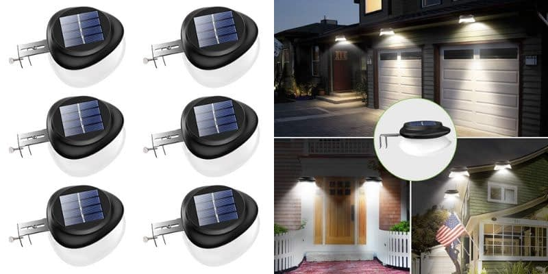 JSOT Black and White Solar Lights