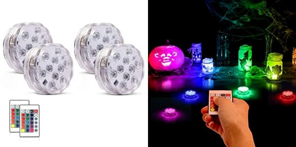 5. Honfeng Battery Powered Submersible LED Lights