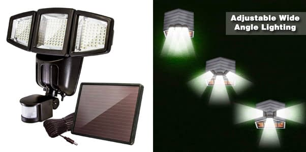 10. Anko 3-Panel 1000 Lumen Solar Flood Light