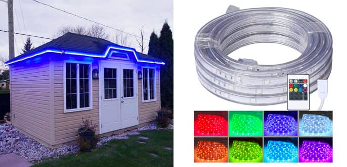 8.Areful Colour Changing Rope Lights