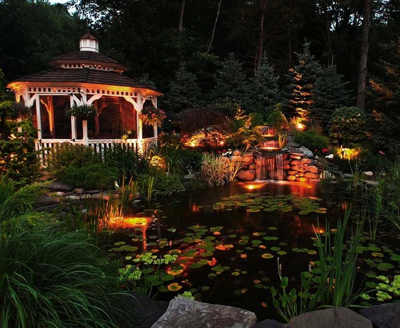Installing Pond Lighting