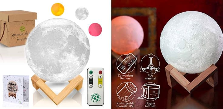 10. Athena Futures 3D Moon Night Light