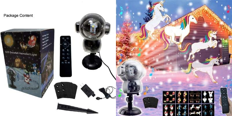 AIDERLY Fairy Snowfall Animated Projector Lights with Music Function