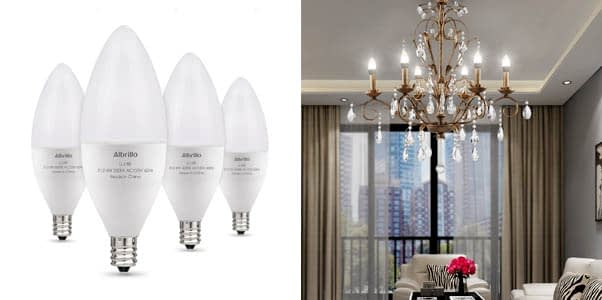 Albrillo E12 Bulb Candelabra LED Bulbs