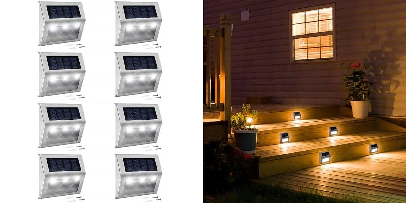 Jackyled Solar Step Lighting