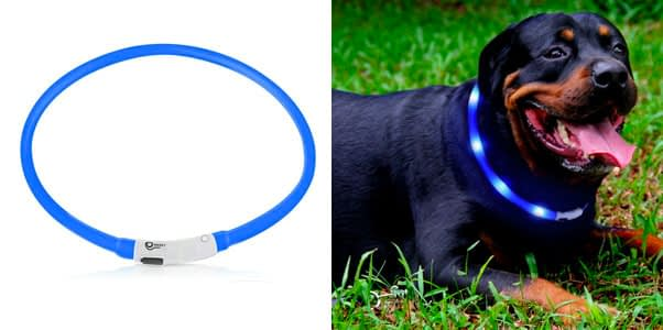 2. USB Rechargeable LED Dog Collar (3 Modes)
