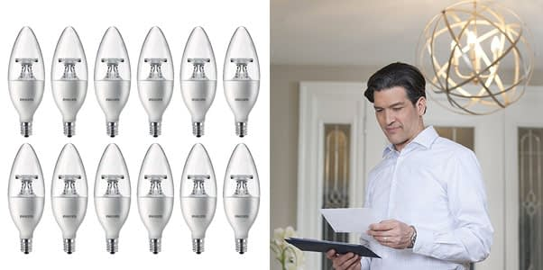 Philips LED Dimmable B11 Clear Candle Light Bulb