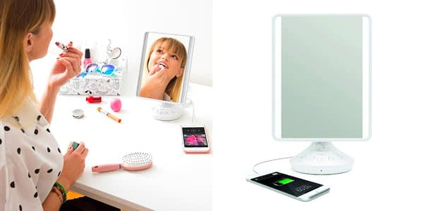 iHome All-in-One with Handsfree Bluetooth Enabled Charging Mirror