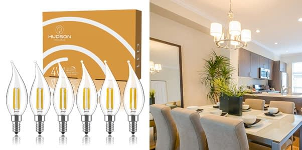 Hudson Lighting Dimmable Candelabra Bulb Set