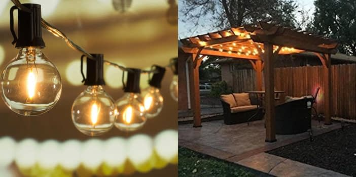 Brightown 25 ft G40 Globe String Lights with Clear Bulbs