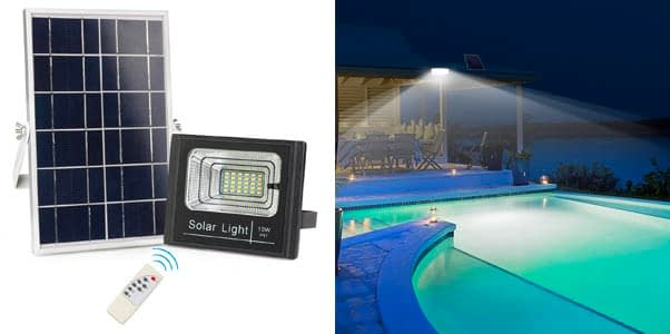 8. Awanber Remote Controlled Solar Powered Flood Lights
