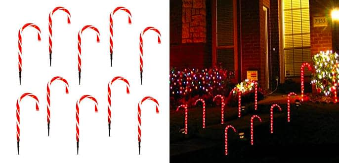 5. Best Choice Christmas Candy Cane Pathway Lights