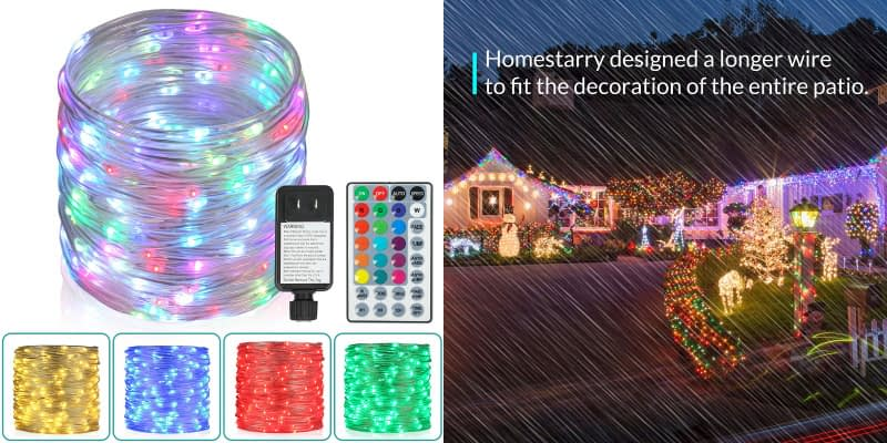 Homestarry Remote Controlled with 16 Color Changing