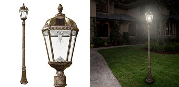 2. Gama Sonic Royal Bulb Solar Outdoor Lamp