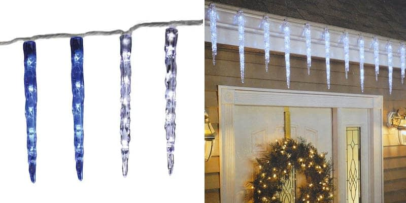 GE 20-Count 100 LED Twinkling Ice Crystal Icicle Set