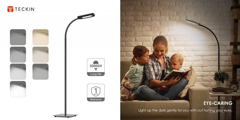 Teckin Touch Control Standing Reading Light