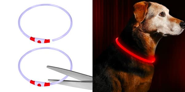 6.BSEEN Trimmable LED Dog Collar