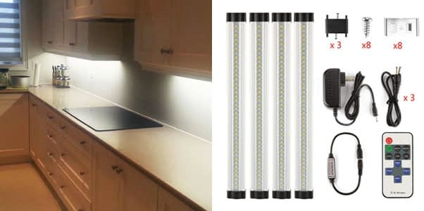 2. LXG-LED 12 Inch Dimmable LED Lighting (4 Pack)