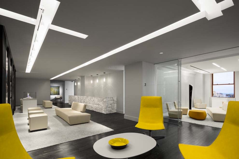 Analyze the Lighting in the Office Space