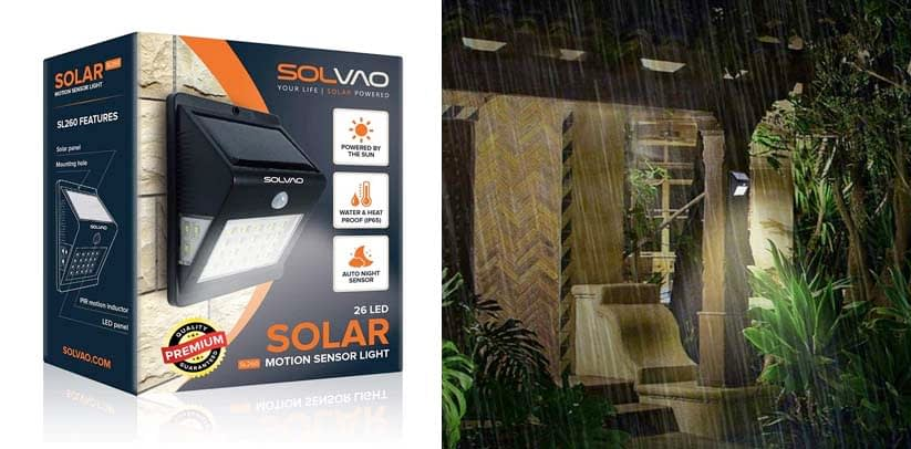 SOLVAO Solar Motion Detector Light