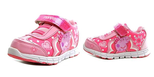 9. Peppa Pig Toddler Girl's Light Up Pink Sneakers