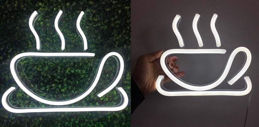 Vasten Neon Sign Coffee Cup