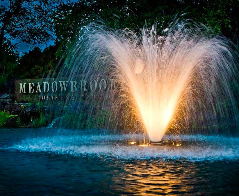 Pond Fountain Lighting