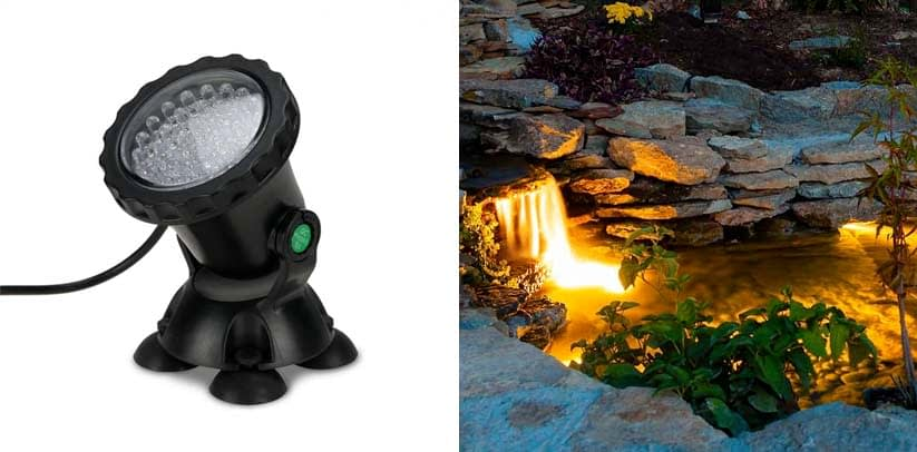 MUCH Underwater Light, Waterproof IP 68 Submersible Spotlight