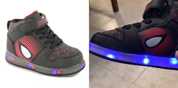 4. Trimfoot Official Spiderman Boy's Lighted Sneakers