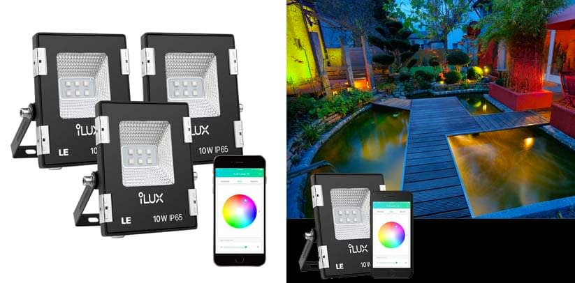 LE iLUX Smart LED Flood Lights