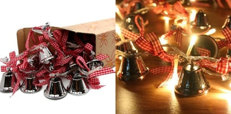 Orange Tree Trade Jingle Bells with Plaid Bows