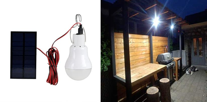 Solar LED Light Bulb, Portable Solar Powered Solar Energy Lamp