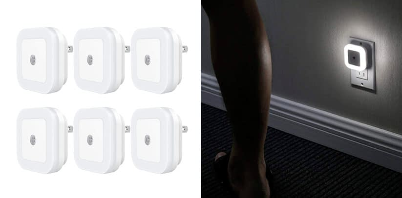 cees Plug in LED Night Light with Dusk-to-Dawn Sensor