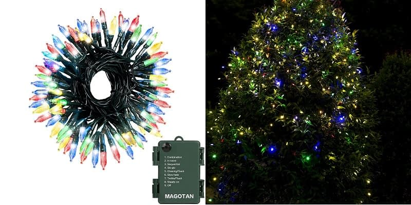 Magotan Green Wire Multicolor LED Christmas Lights