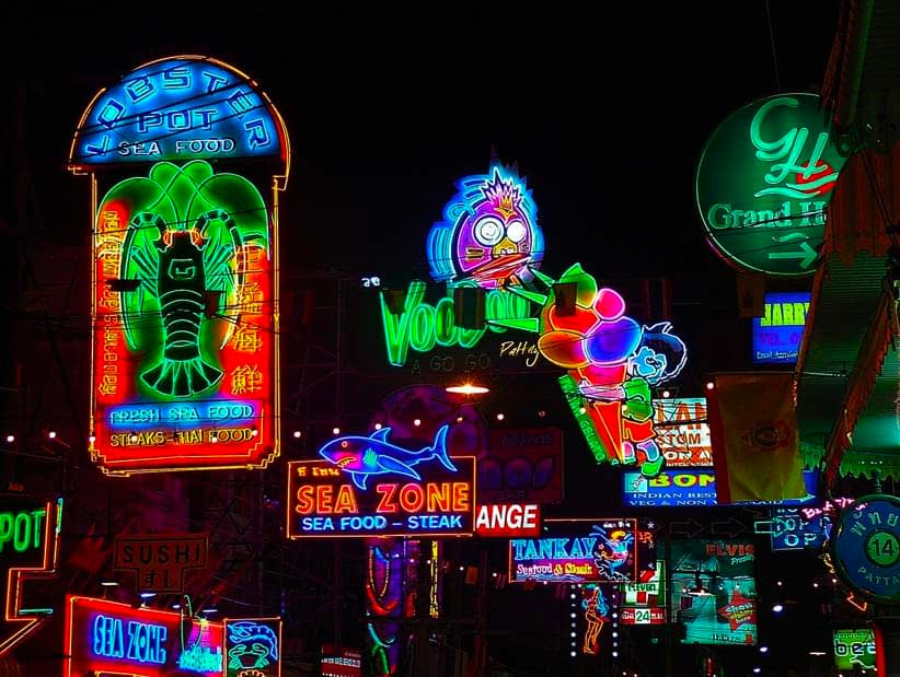 Neon Signs in Street