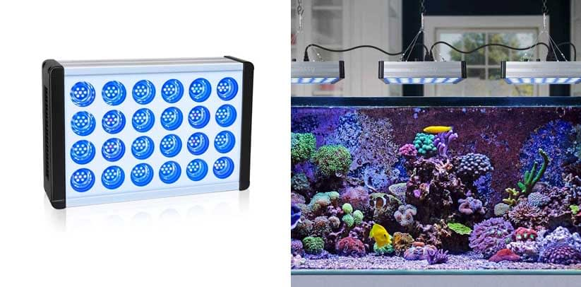 Aquarium Led Light Relassy Dimmable Reef Light for Coral Fish Tank Light