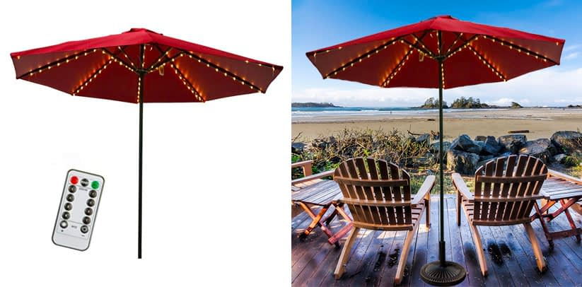 2. Lightsea 8 Mode Patio Umbrella Lights (3 Color Choices)
