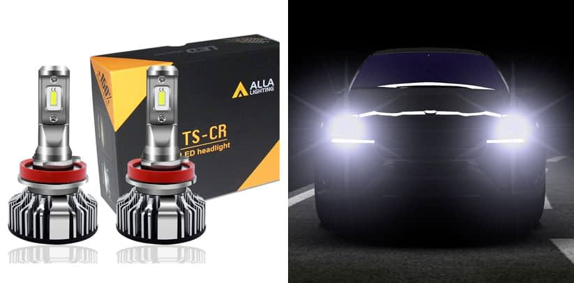 Alla Lighting 10000 Lumen H11 LED Headlights Bulbs