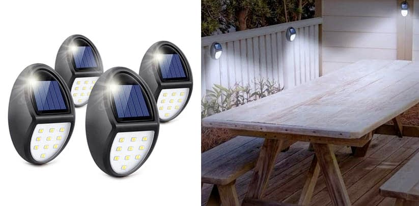 Mini Solar Fence Lights for Wireless Lighting in Deck