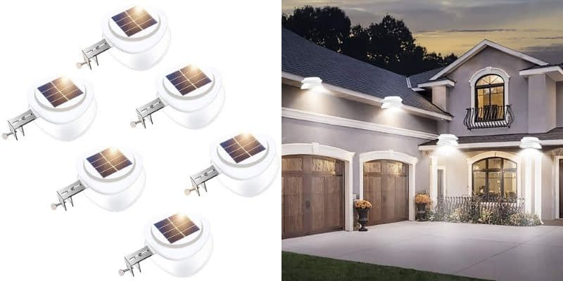 ROSHWEY UFO-Inspired Solar Gutter Lights