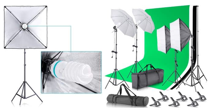 2. Neewer Continuous Umbrella Lighting Kit