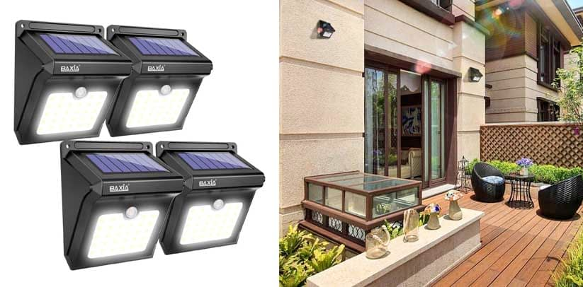 BAXIA TECHNOLOGY BX-SL-101 Solar Fence Lights Outdoor