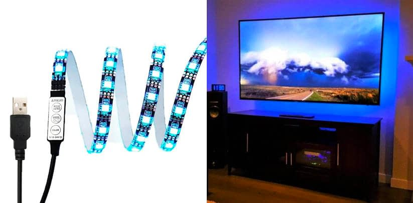eTopxizu Black TV Backlight Kit (USB Powered Strip Light)