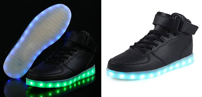 6. High Top Dance Light Up LED Adult Sneakers