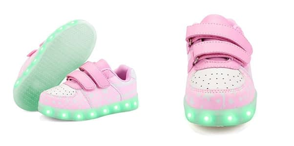 6. Green Hope Rise-Field LED Light Up Kids Shoes