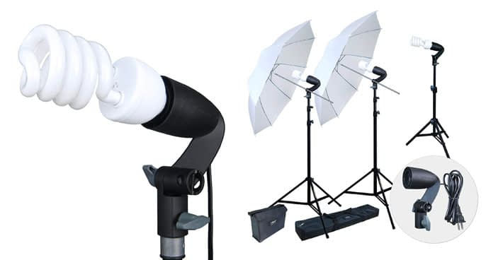 4. LINCO Photography & Videography Continuous Umbrella Lighting Kit