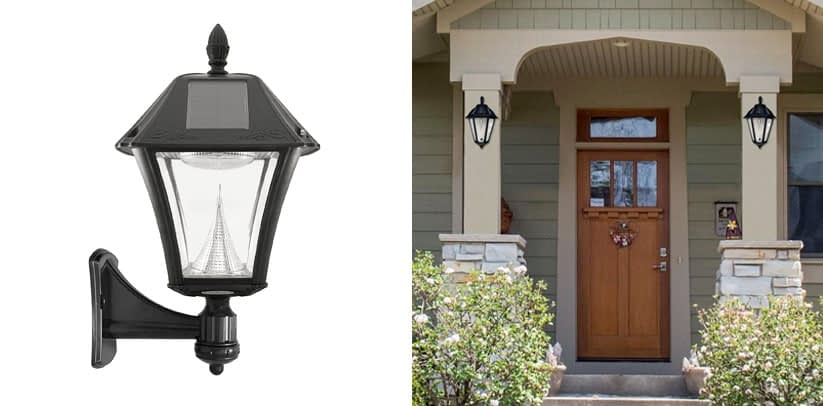 Gama Sonic GS 105FPW BW Baytown II Outdoor Solar Porch Light
