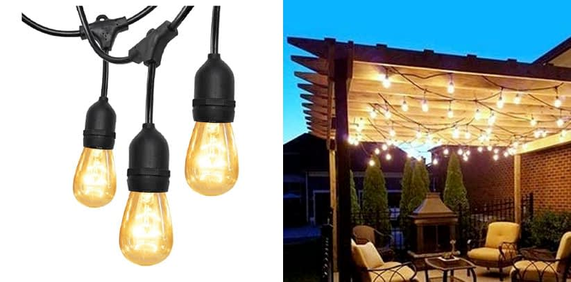 52Ft Outdoor Gazebo String Lights - with UL SUPERDANNY
