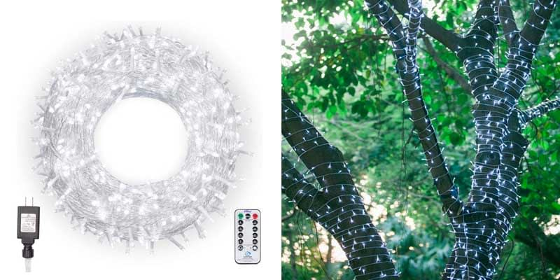 Ollny Christmas Lights 800 LEDs 330ft LED Outdoor String Lights