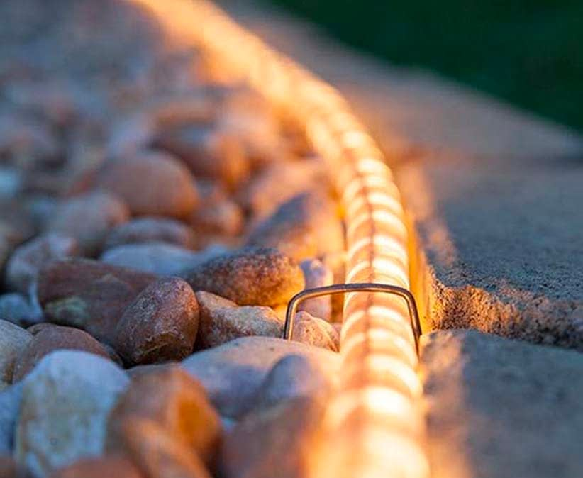 Using LED Rope Lights in Garden